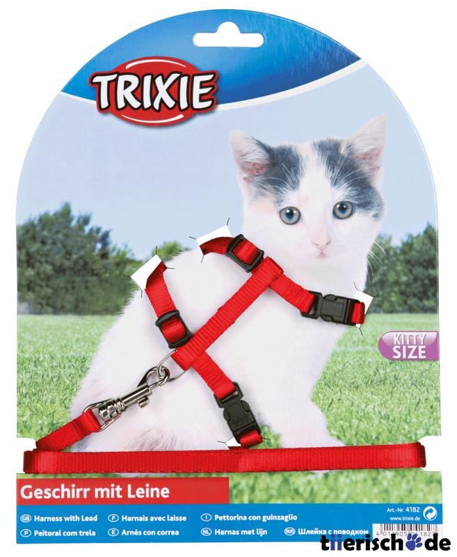 Trixie Kätzchen-Garnitur Katzenleine mit Katzengeschirr 4182, Bild 3
