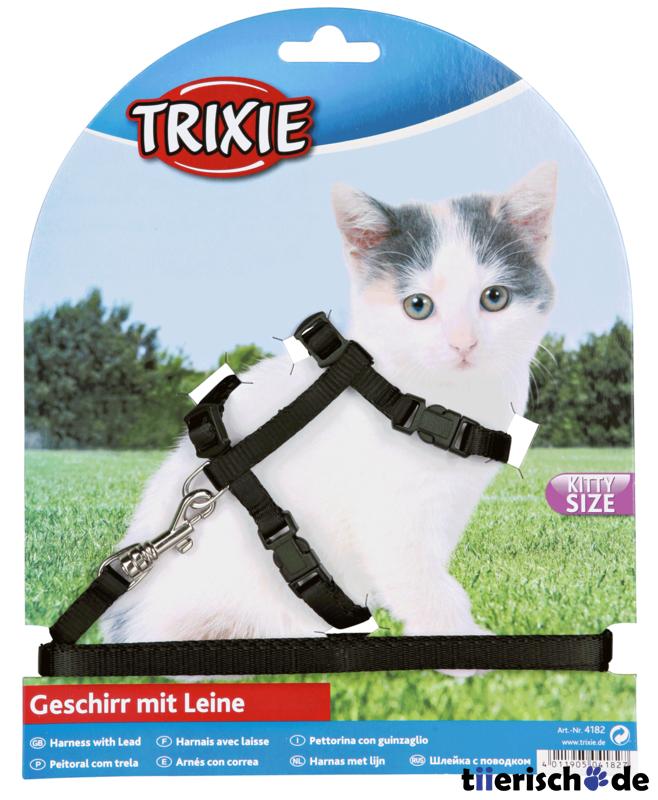 Trixie Kätzchen-Garnitur Katzenleine mit Katzengeschirr 4182, Bild 4
