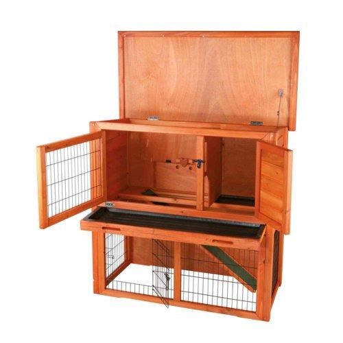 TRIXIE Kaninchenstall Hasenstall Natura mit Freigehege 62301, Bild 6