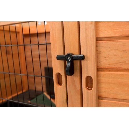 TRIXIE Kaninchenstall Hasenstall Natura mit Freigehege 62301, Bild 8