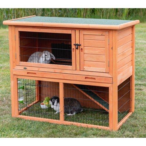 TRIXIE Kaninchenstall Hasenstall Natura mit Freigehege 62301, Bild 14
