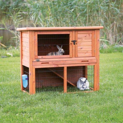 TRIXIE Kaninchenstall Hasenstall Natura mit Freigehege 62301, Bild 17