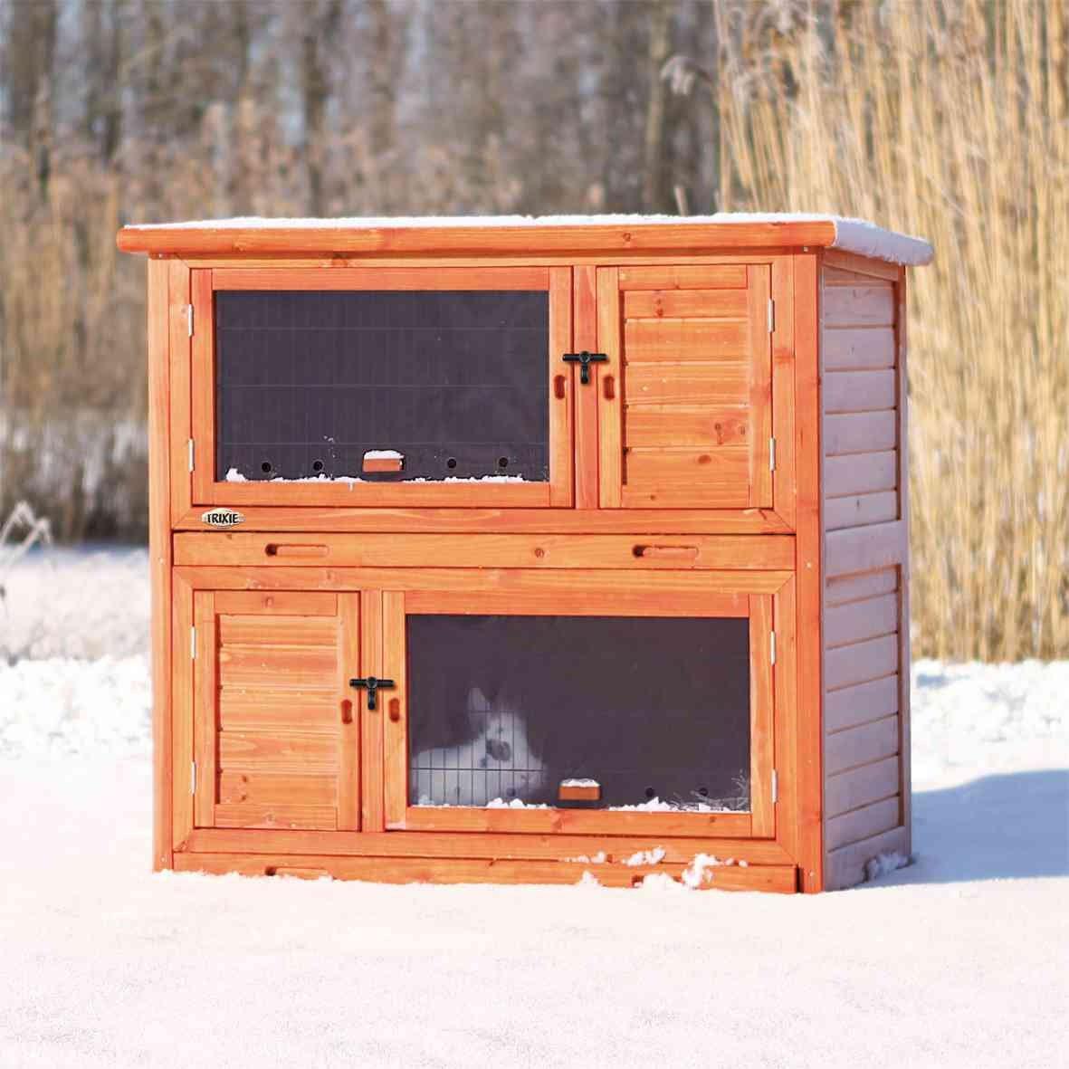 TRIXIE Kaninchenstall winterfest mit Wärmedämmung isoliert 62404