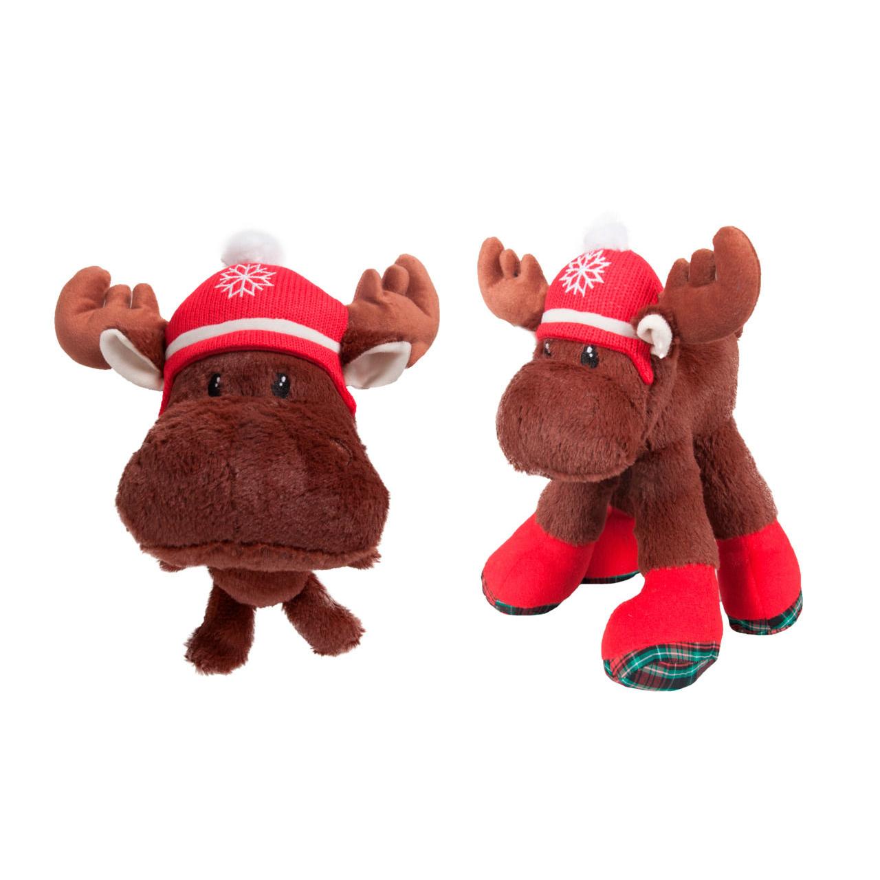 Karlie Hunde Weihnachtsspielzeug Plüsch, 29 cm Elch