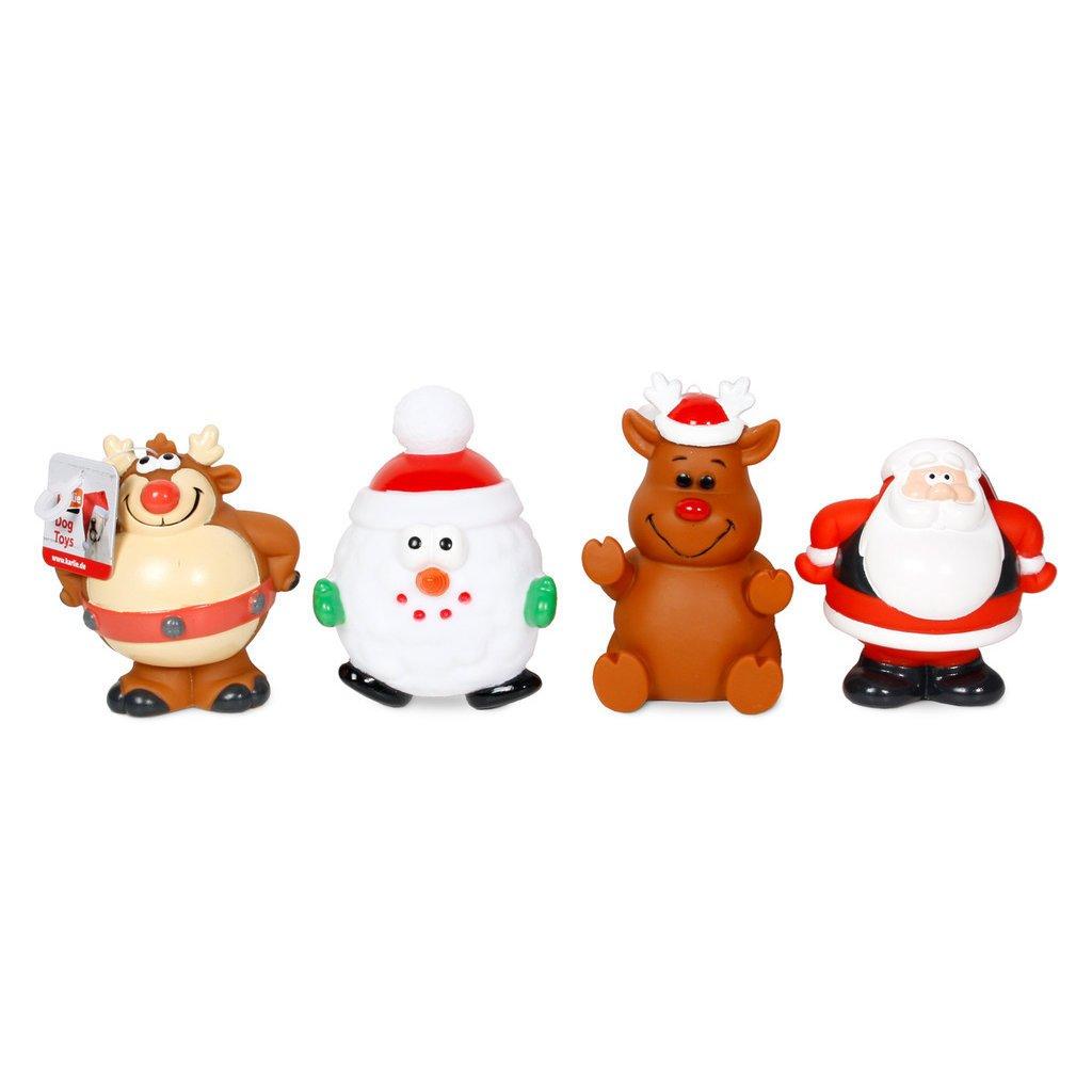 Karlie Weihnachtsspielzeug aus Vinyl für Hunde, 1 Stck - zufällige Ausführung - L: 12 cm