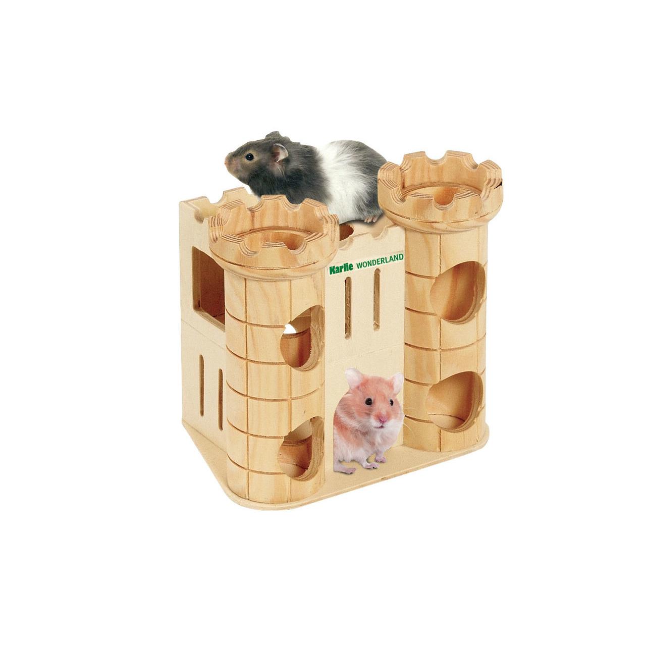 Karlie Wonderland Spielburg für Nager, Wonderland Häuser L: 16 cm B: 11 cm H: 15 cm