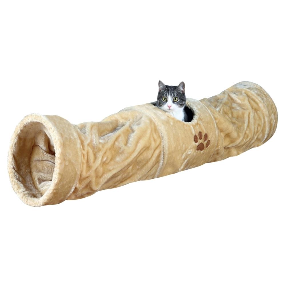 Trixie Katzen Spieltunnel Plüsch, extra lang 43001