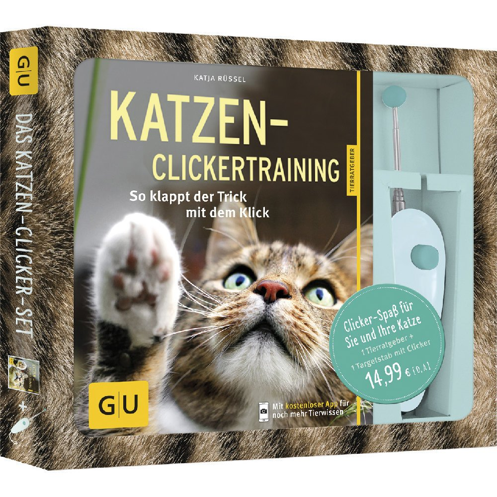 GU Verlag Katzen-Clickertraining Buch mit Targetstab