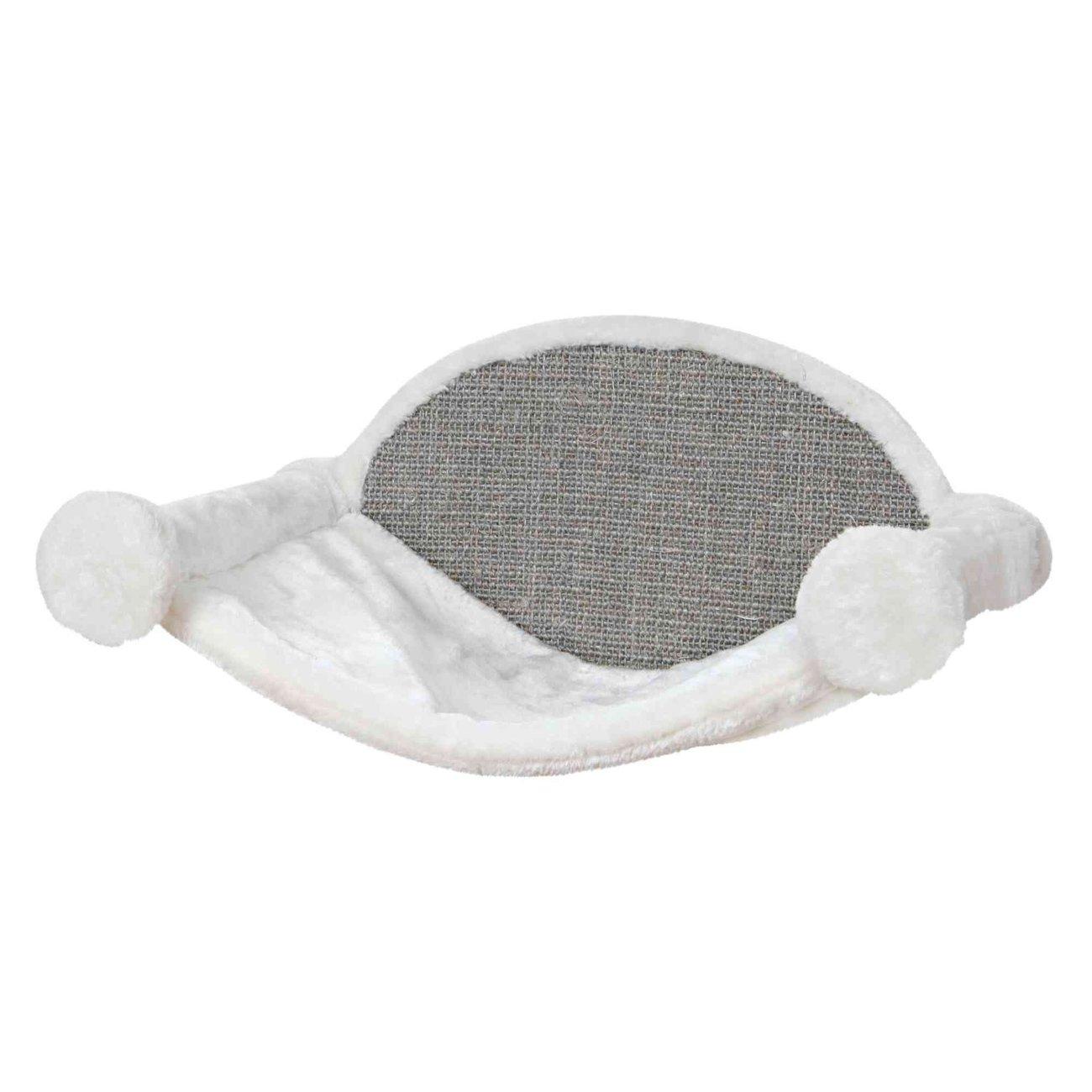 Trixie Katzen Hängematte zur Wandmontage, 54 × 28 × 33 cm, weiß/grau