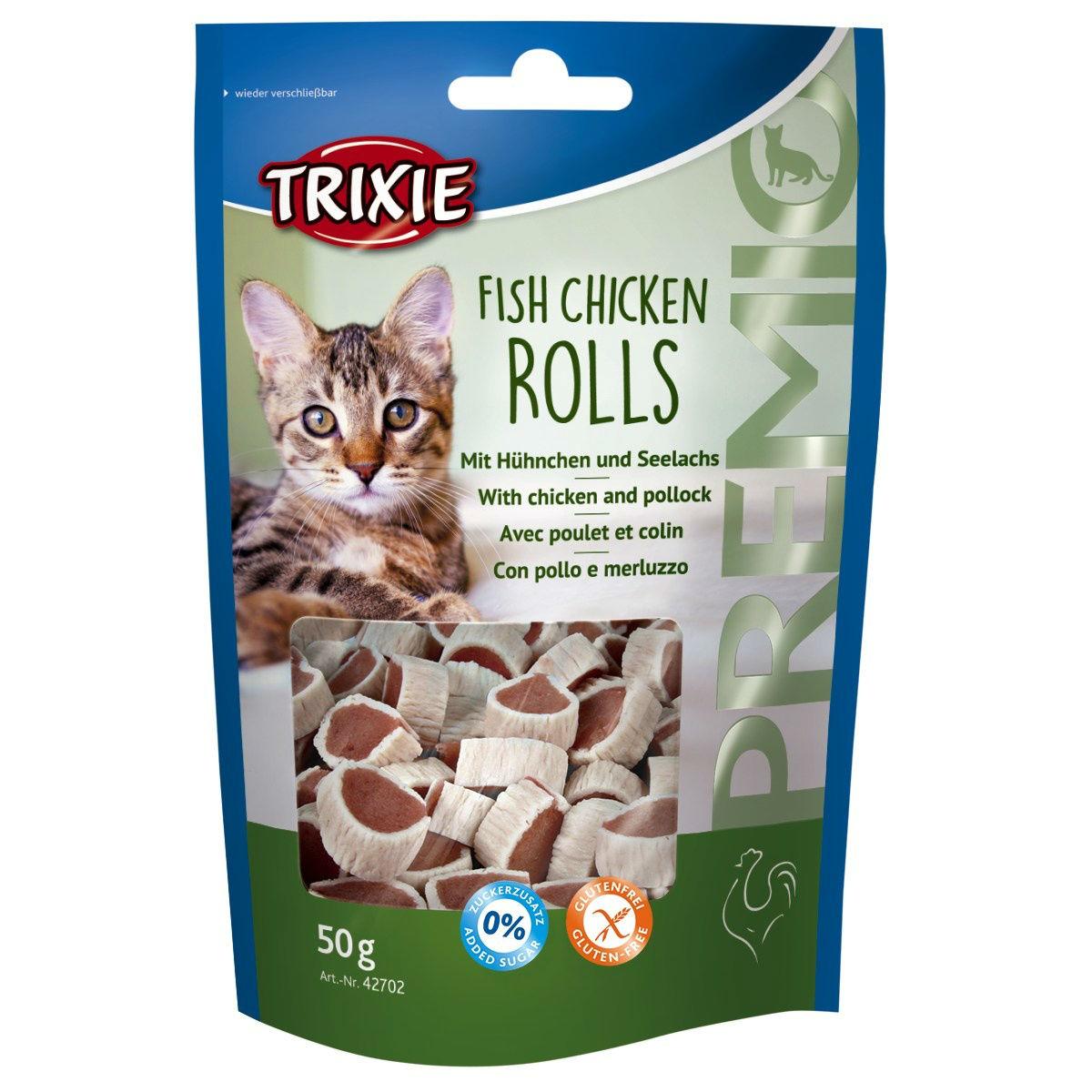 Trixie Katzen Leckerli Premio Fish Chicken Rolls 42702
