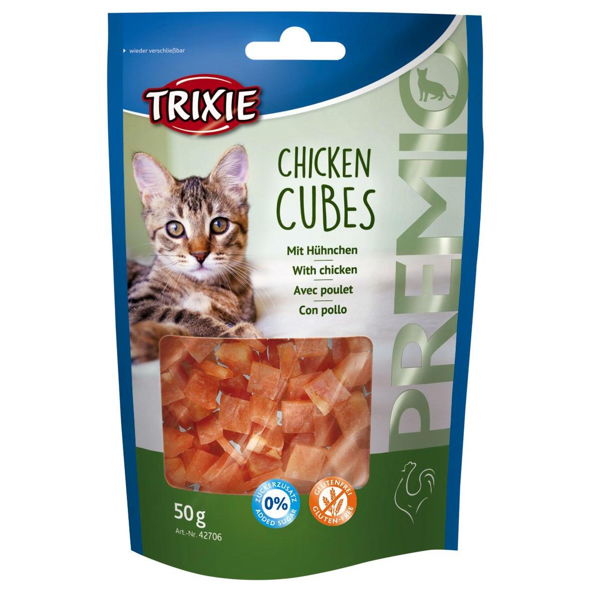 Trixie Katzen Leckerlie Premio Chicken Cubes 42706