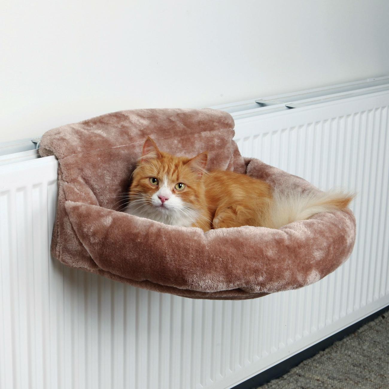 Trixie Katzen Liegemulde für Heizkörper Plüsch, 46 × 11 × 33 cm, braun