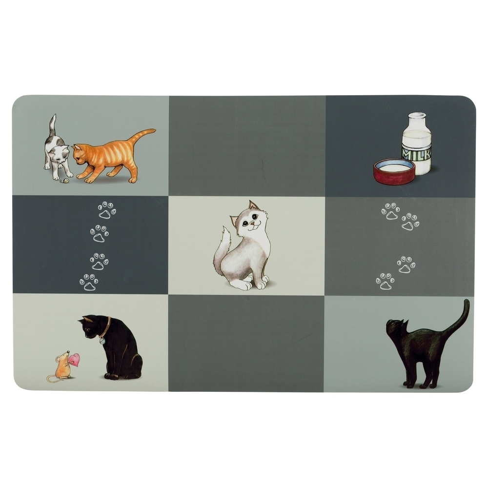 TRIXIE Katzen Napfunterlage Patchwork Cat 24579