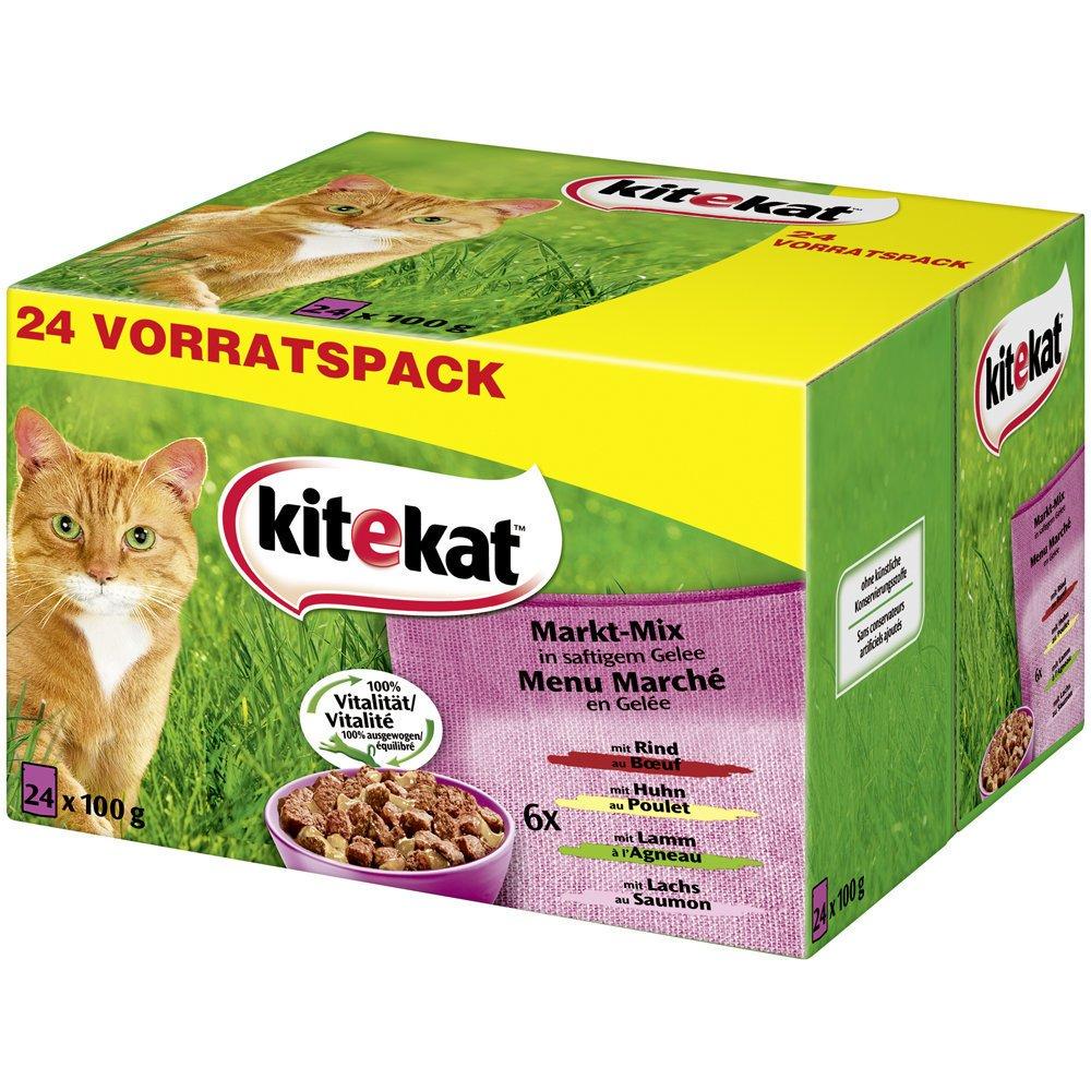 Kitekat Katzenfutter Multipack Markt-Mix in Gelee