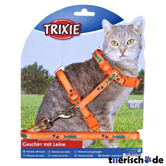 Trixie Katzengeschirr mit Leine aus Nylon 4209