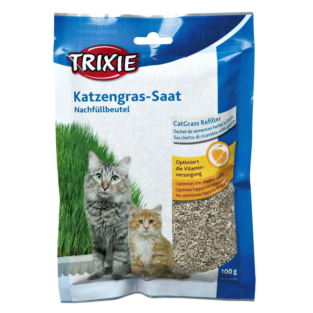 Trixie Katzengras Soft gras selber ziehen, Nachfüllbeutel, ca. 100 g