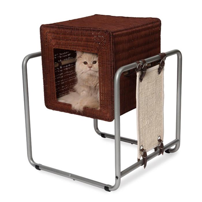 Katzenhöhle Vesper V-Cube, Rattan, 52 x 52 x 63 cm