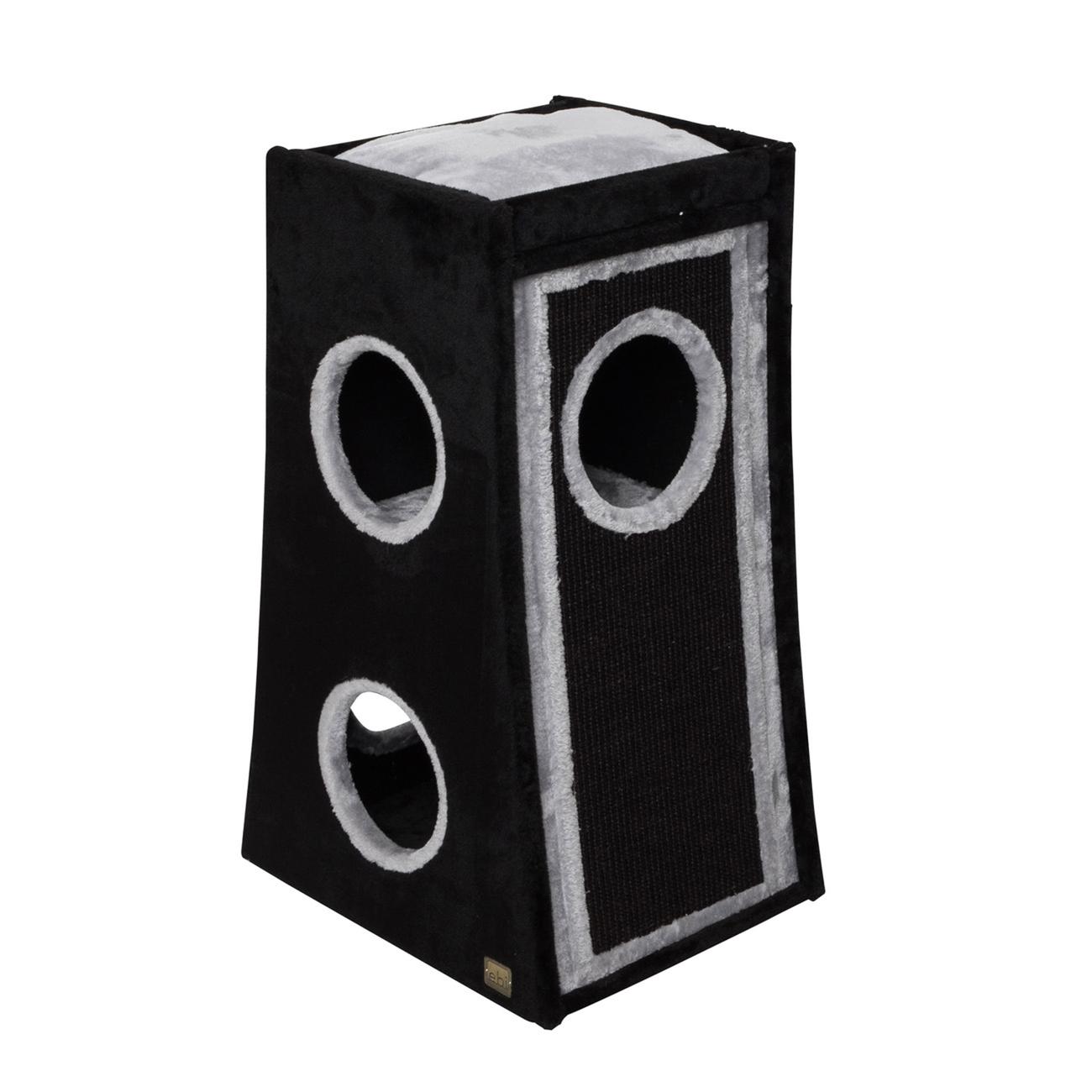 EBI Katzenkratztonne Trend Rowan, 50 x 40 x 80 cm, schwarz