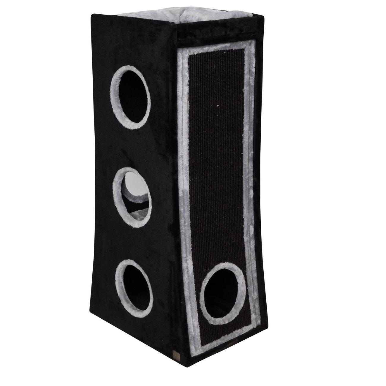 EBI Katzenkratztonne Trend Rowan, 55 x 40 x 110 cm, schwarz