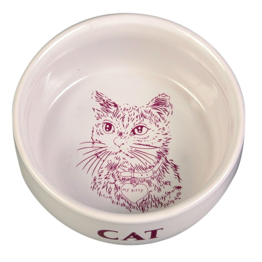 Trixie Katzennapf, Kitten-Napf, Keramik, Keramik, 0,3 l / ø 11 cm
