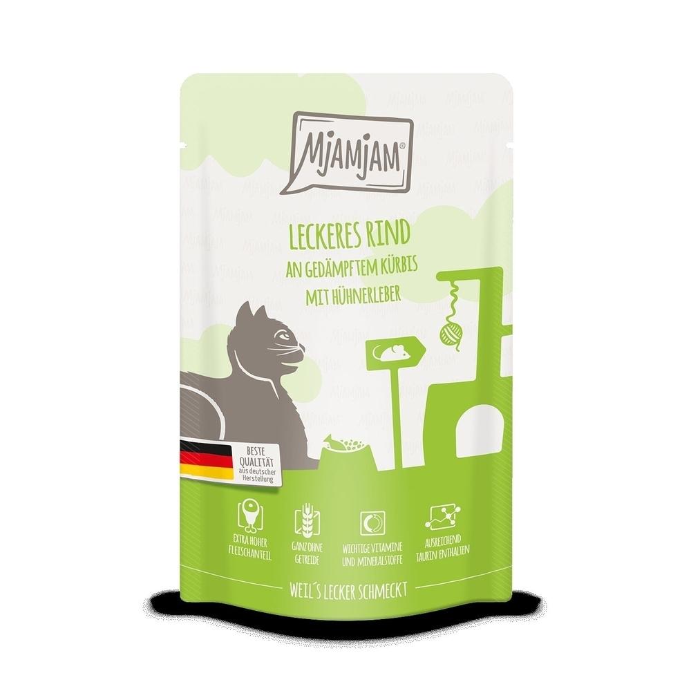 MjAMjAM Katzennassfutter - Quetschie der purer Fleischgenuss, Bild 3