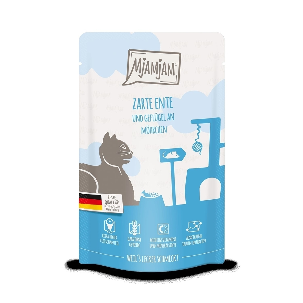 MjAMjAM Katzennassfutter - Quetschie der purer Fleischgenuss, Bild 5