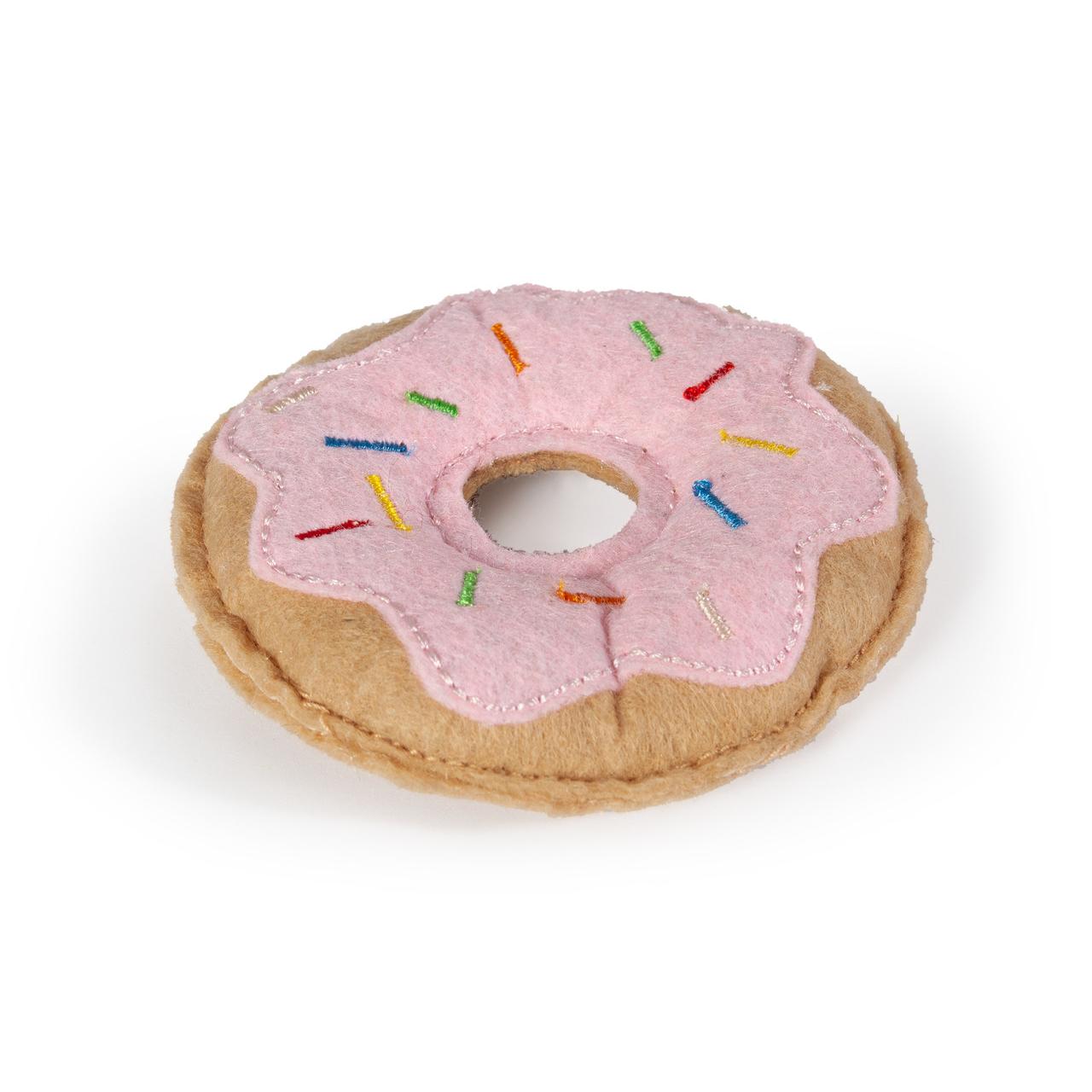 Karlie Katzenspielzeug aus Textil, Donut - L: 7.5 cm