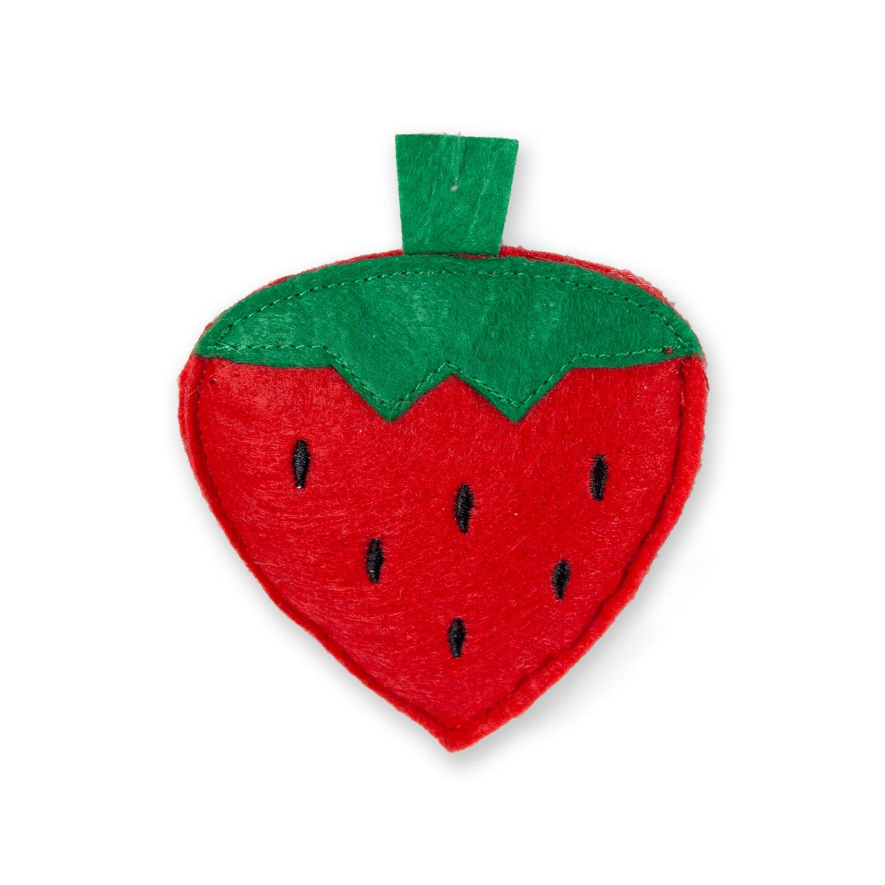 Karlie Katzenspielzeug aus Textil, Erdbeere - L: 9.5 cm
