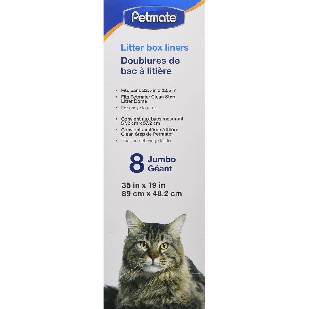 Petmate Katzentoilettenbeutel für Cleanstep Katzentoilette, 89 x 48,2 cm, 8 Stück