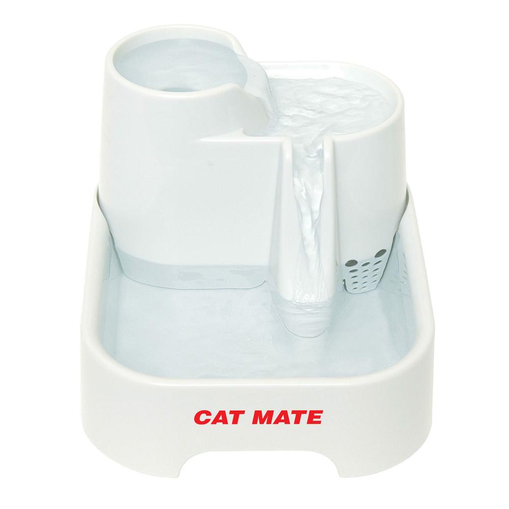 Pet Mate Cat Mate Haustierquelle Trinkbrunnen für Hunde und Katzen, 2 l weiss