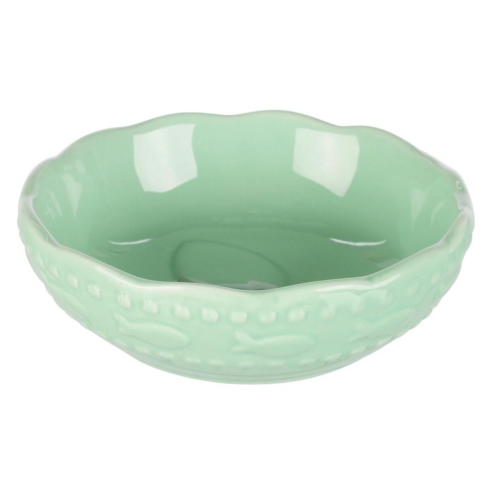 TRIXIE Keramiknapf für Katzen Fischmuster 24783