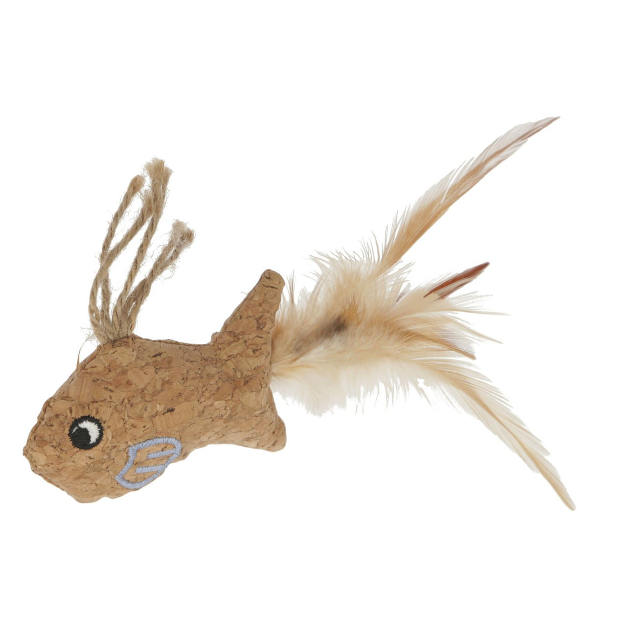Kerbl Katzenspielzeug Kork, Fisch 21 x 10 cm