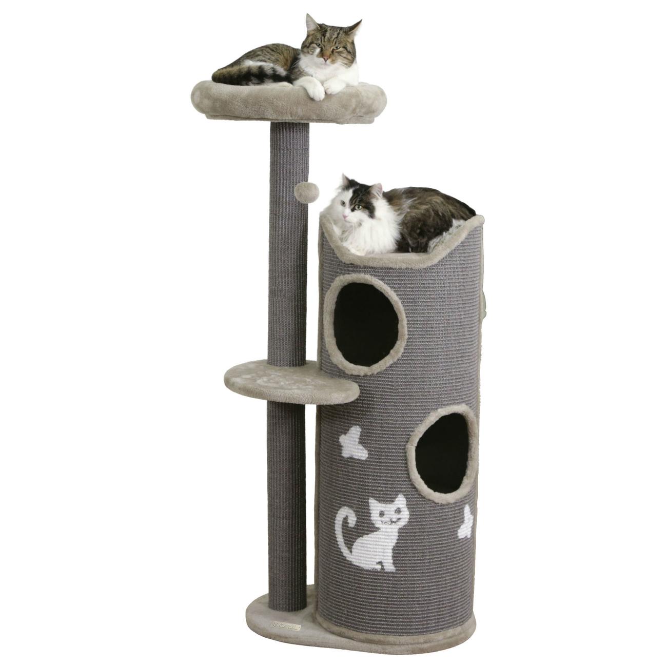 Kerbl Kratztonne für Katzen Tiana grau