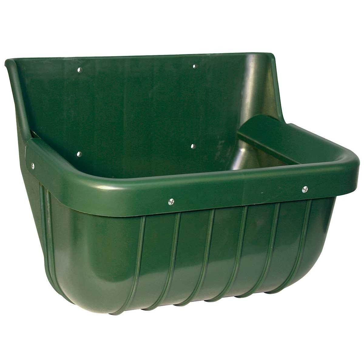 Kerbl Pferdetrog mit Schutzkante, 15 Liter, grün