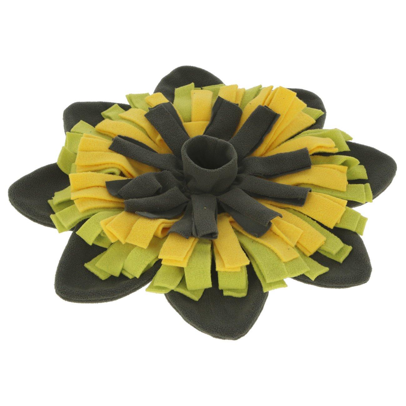 Kerbl Schnüffelteppich Sunflower, gelb/grün, Ø 40cm