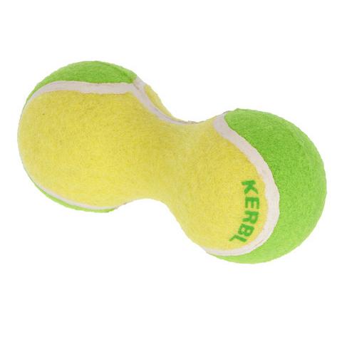 Kerbl Tennishantel für Hunde, 15cm, gelb/grün