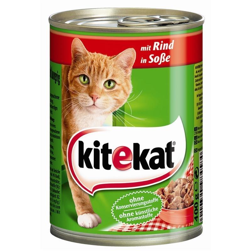 Mars Dosenfutter für Katzen, Rind in Soße 12x400g