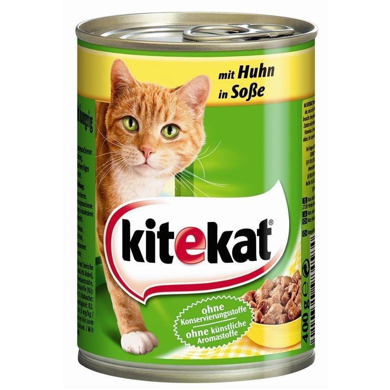 Mars Dosenfutter für Katzen, Huhn in Soße 12x400g