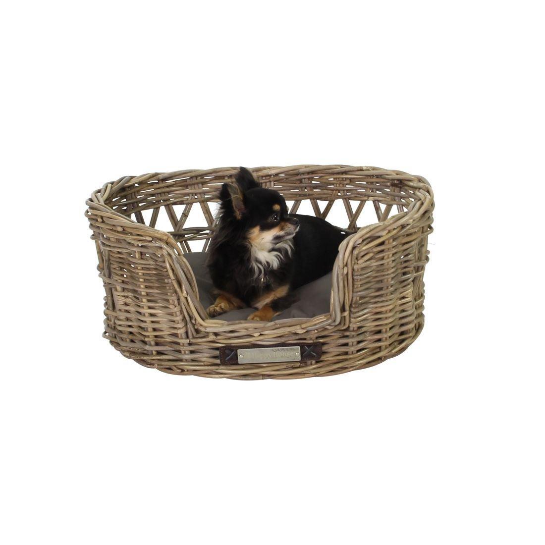 Happy House Klassischer Luxury Haustier-Rattankorb Oval, Bild 2