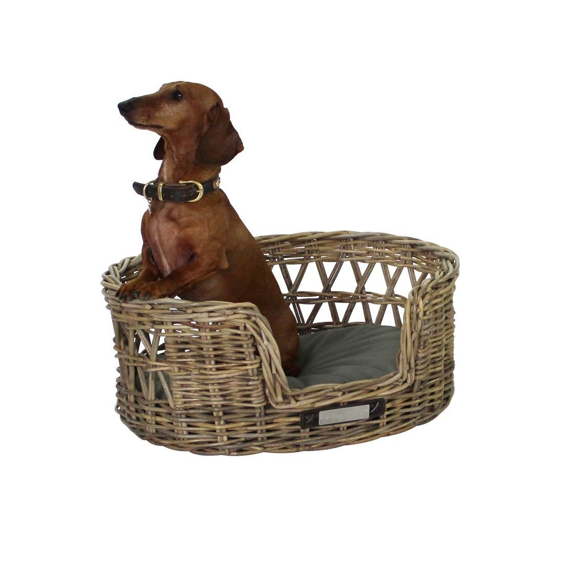 Happy House Klassischer Luxury Haustier-Rattankorb Oval, Bild 4