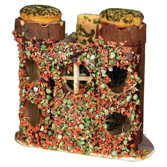 TRIXIE Kleintier Spielburg mit Snacks und Raufutter