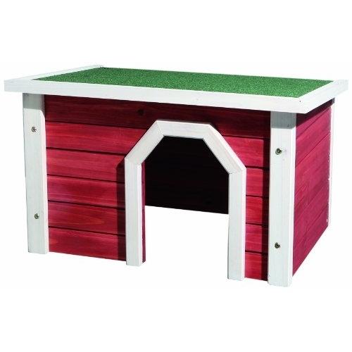 TRIXIE Kleintierhaus aus Holz rot weiß Preview Image