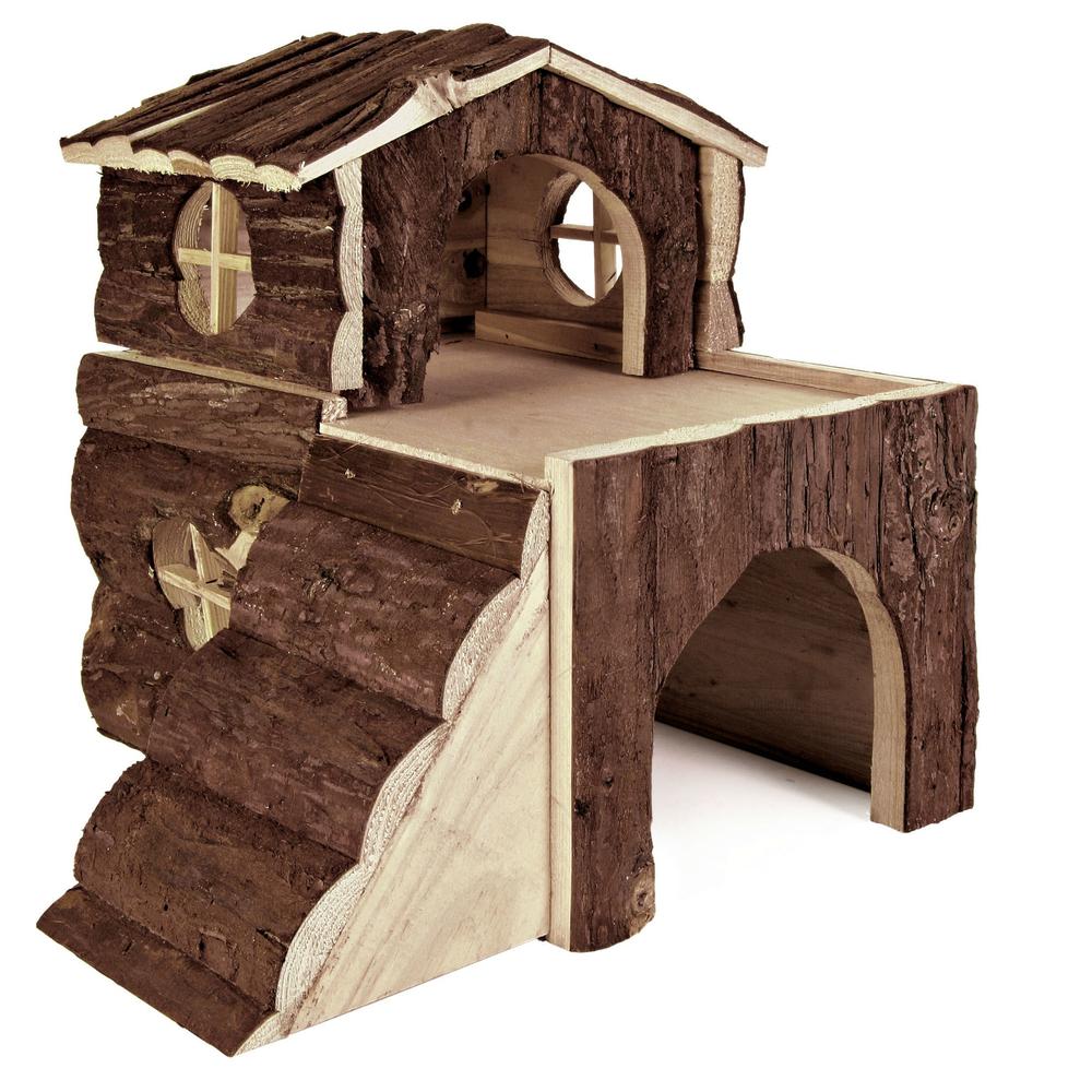 Trixie Kleintierhaus Bjork Haus für Meerschweinchen, Naturholz, 31×28×29 cm