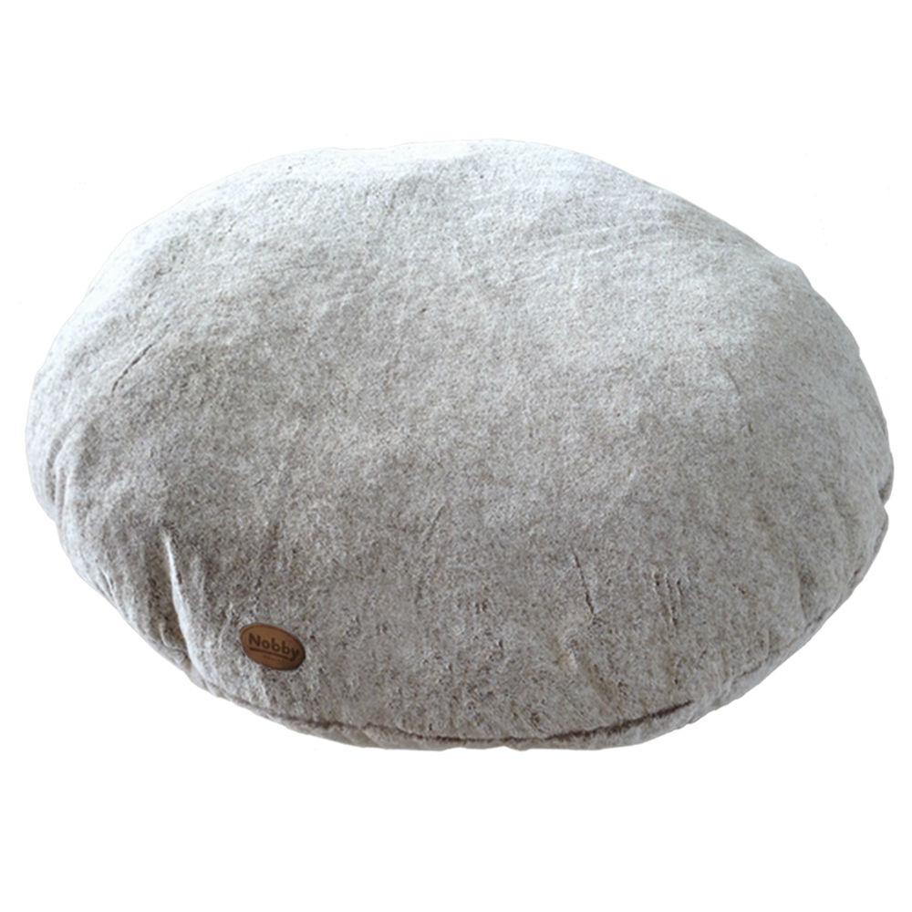 Nobby Komfortkissen XL Hundebett Cuddly, Ø 85x20 cm, hellbraun