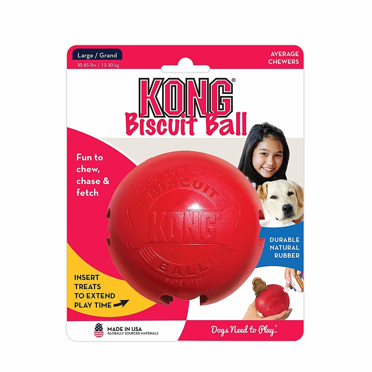 KONG Biscuit Ball Hundespielzeug, Bild 3