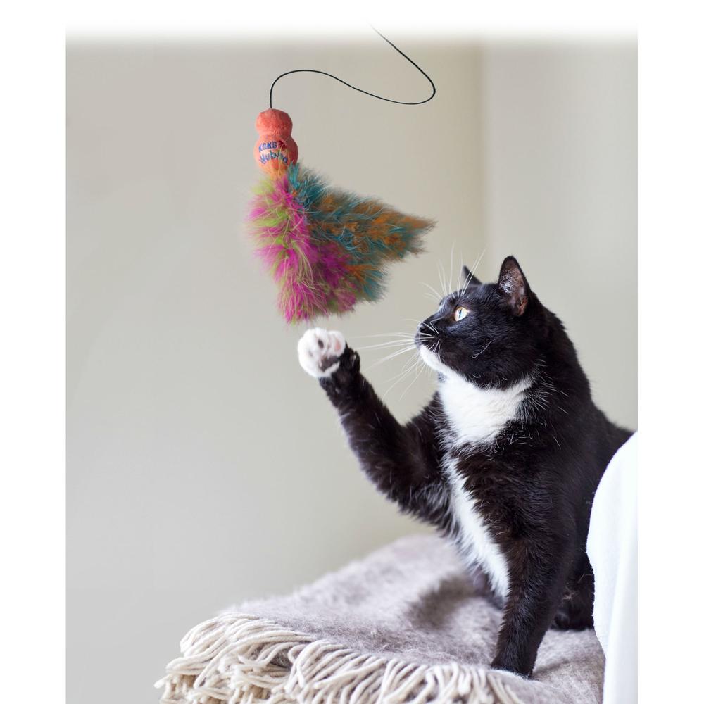 KONG Cat Wubba Boa Teaser Katzen Spielangel, Bild 4