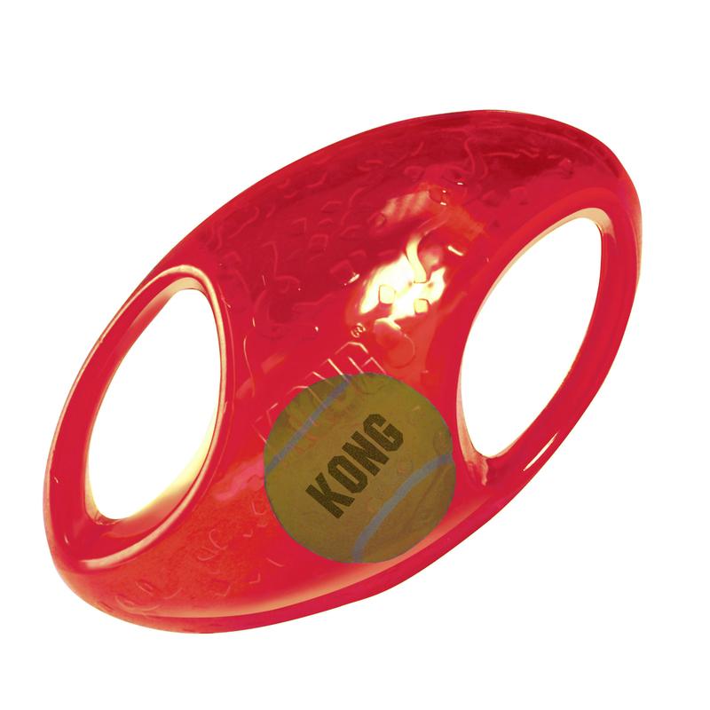 KONG Jumbler Hundespielzeug, Football, medium, 17,8 cm