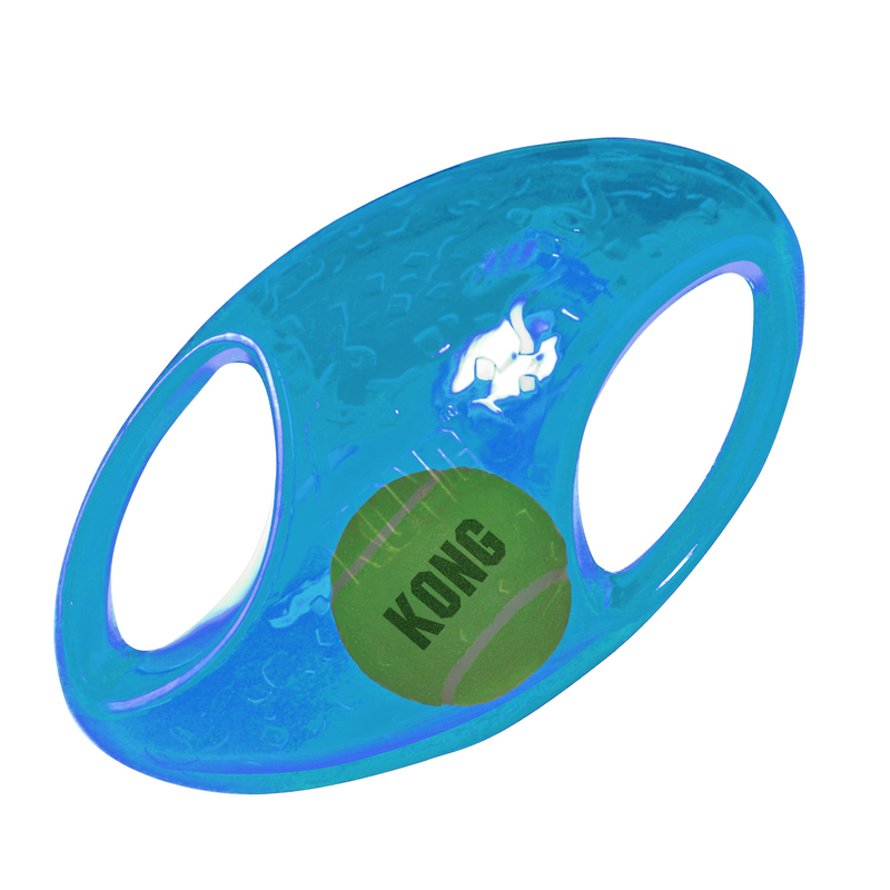 KONG Jumbler Hundespielzeug, Football, large, 22,8 cm