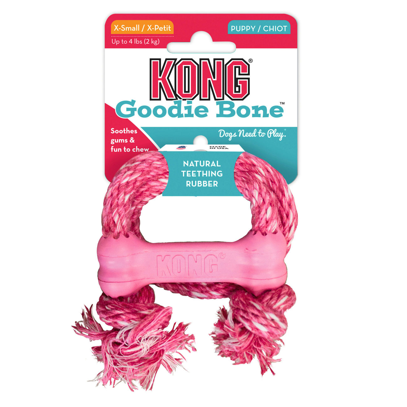 KONG Puppy Goodie Bone mit Seil, Bild 3