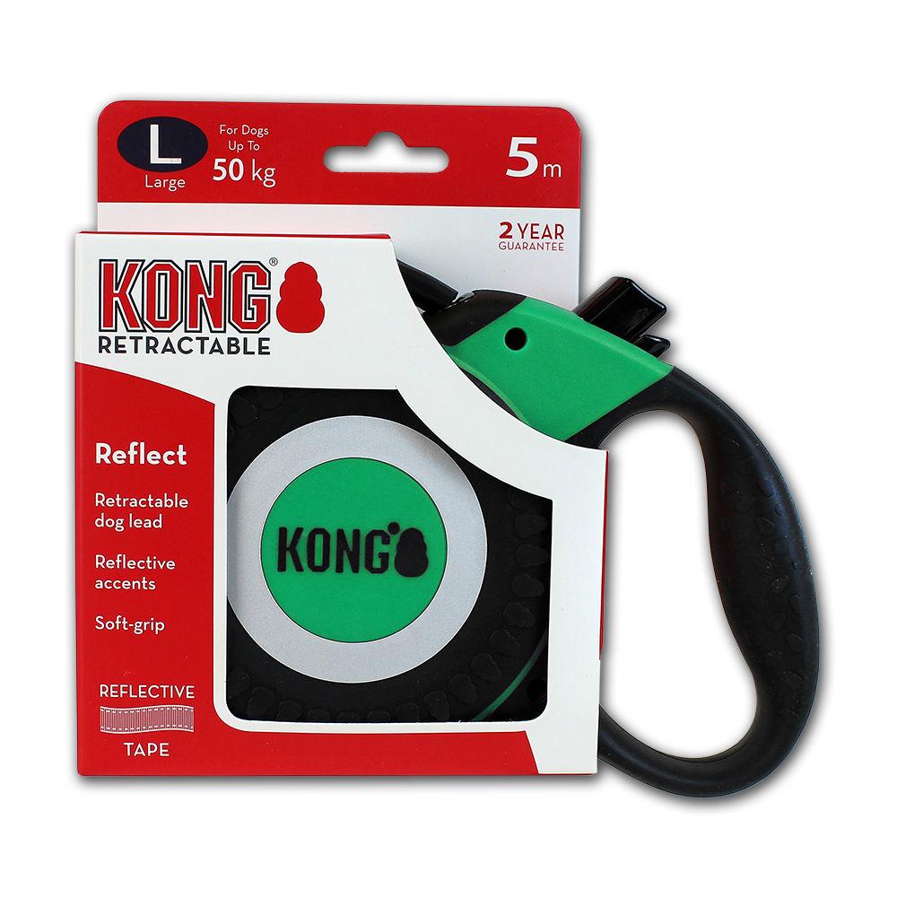 KONG Rollleine Reflect, large, grün